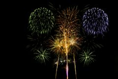 Bonfire Night fireworks displays in London. United Kingdom Stock Images