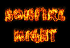 Bonfire Night Text Stock Photos