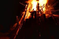 Bonfire night winter Royalty Free Stock Photos