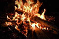Bonfire during Nightime Royalty Free Stock Photography
