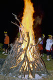 Bonfire in a party. Royalty Free Stock Photo