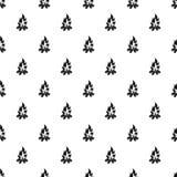 Bonfire pattern vector. Bonfire pattern seamless in simple style vector illustration Stock Image