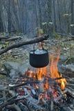 Bonfire and pot 15 Stock Image