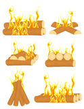 Bonfire set royalty free illustration
