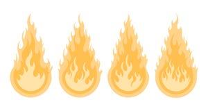 Bonfire set. Design element royalty free illustration