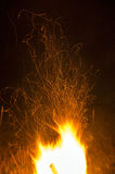 Bonfire Sparks Royalty Free Stock Images