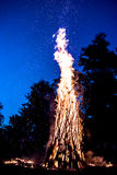 Bonfire. And sparks at the night Stock Image