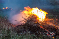 Bonfire in strong wind Royalty Free Stock Image