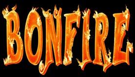 Bonfire royalty free illustration