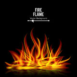 Bonfire Vector On Black Background. Realistic Illustration Stock Photography