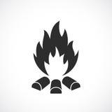 Bonfire vector icon. Illustration on white background Stock Image