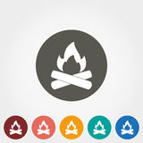 Bonfire vector icon. Bonfire. Icon for web and mobile application. Vector illustration on a button. Flat design style Stock Image