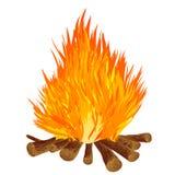 Bonfire on white background. Stock Images