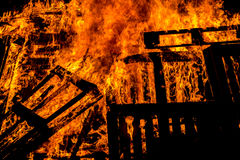 Bonfire of wood pallets Stock Photography