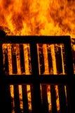 Bonfire of wood pallets Stock Photo