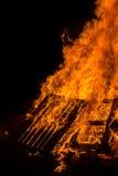 Bonfire of wood pallets Stock Photos