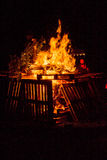 Bonfire of wood pallets Royalty Free Stock Photos