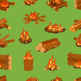 Bonfires isolated vector illustration. Stock Image