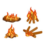 Bonfires  vector illustration. Stock Photography