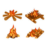 Bonfires  vector illustration. Stock Photo