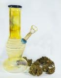 Bong and buds 2. Close up of marijuana bong and cannabis buds Stock Images