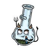 bong Bong-diablo con un encendedor y Trident Personaje de dibujos animados del vector stock de ilustración
