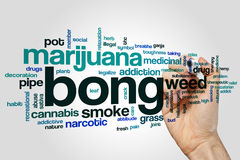 Bong word cloud concept on grey background Stock Photos