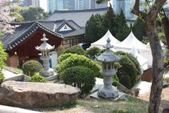 Bongeunsa, Σεούλ, Νότια Κορέα Στοκ Εικόνες