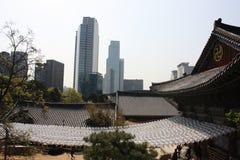 Bongeunsa, Сеул, Южная Корея Стоковое Изображение