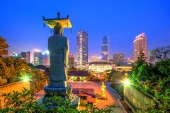 Bongeunsa tempel i Korea Fotografering för Bildbyråer