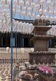 Bongeunsa tempel i Sydkorea Fotografering för Bildbyråer