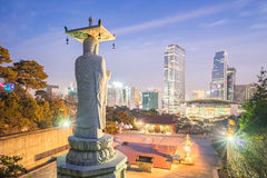 Bongeunsa Temple in the Gangnam District of Seoul, Korea Stock Image