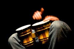 Bongo in Actie Stock Foto's