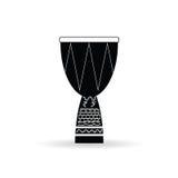 Bongo black and white vector Royalty Free Stock Image