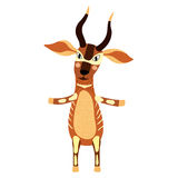 Bongo, der auf der Zeichentrickfilm-Figur mit zwei Beinen steht Lizenzfreies Stockbild