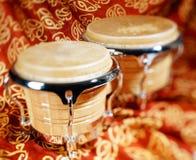 Bongo drum. Or bongos, selective focus royalty free stock photography
