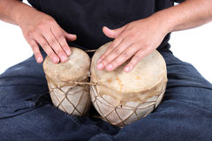 Bongo drumming hands Royalty Free Stock Photo