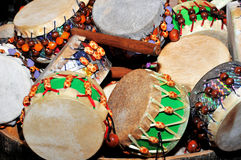 Bongo drums. Image of small drums used for fun in holidays royalty free stock photo