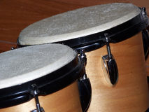 Bongo Drums. Closeup of bongo drums royalty free stock photos