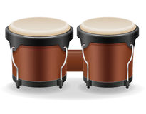 Bongo drums musical instruments stock vector illustration Stock Photos