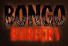 Bongo hamburgerów fasta food restauraci logo fotografia royalty free