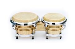 Bongo. Latin percussion, Bongo isolate on white background stock photos
