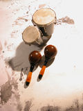 bongo marakasy Obrazy Royalty Free