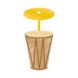 Bongo musical instrument icon. Vector illustration design Stock Image