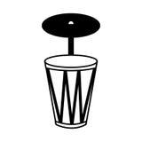 Bongo musical instrument icon. Vector illustration design Stock Photos