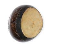 Bongo på en vit bakgrund, tappning för Bongovals som göras från kokosnöten Arkivbild