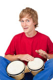 Bongo player Royalty Free Stock Image