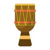 Bongo van Brasilia van de trommelpercussie royalty-vrije illustratie