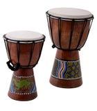 Bongos. Two bongo drums isolated on white Stock Image