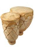 Bongos. Vertical image of isolated bongo drums